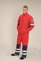 Спецодежда для врачей, рабочий костюм красный, фото 1