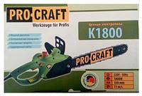 Электропила цепная ProCraft K1800 електропила, пила