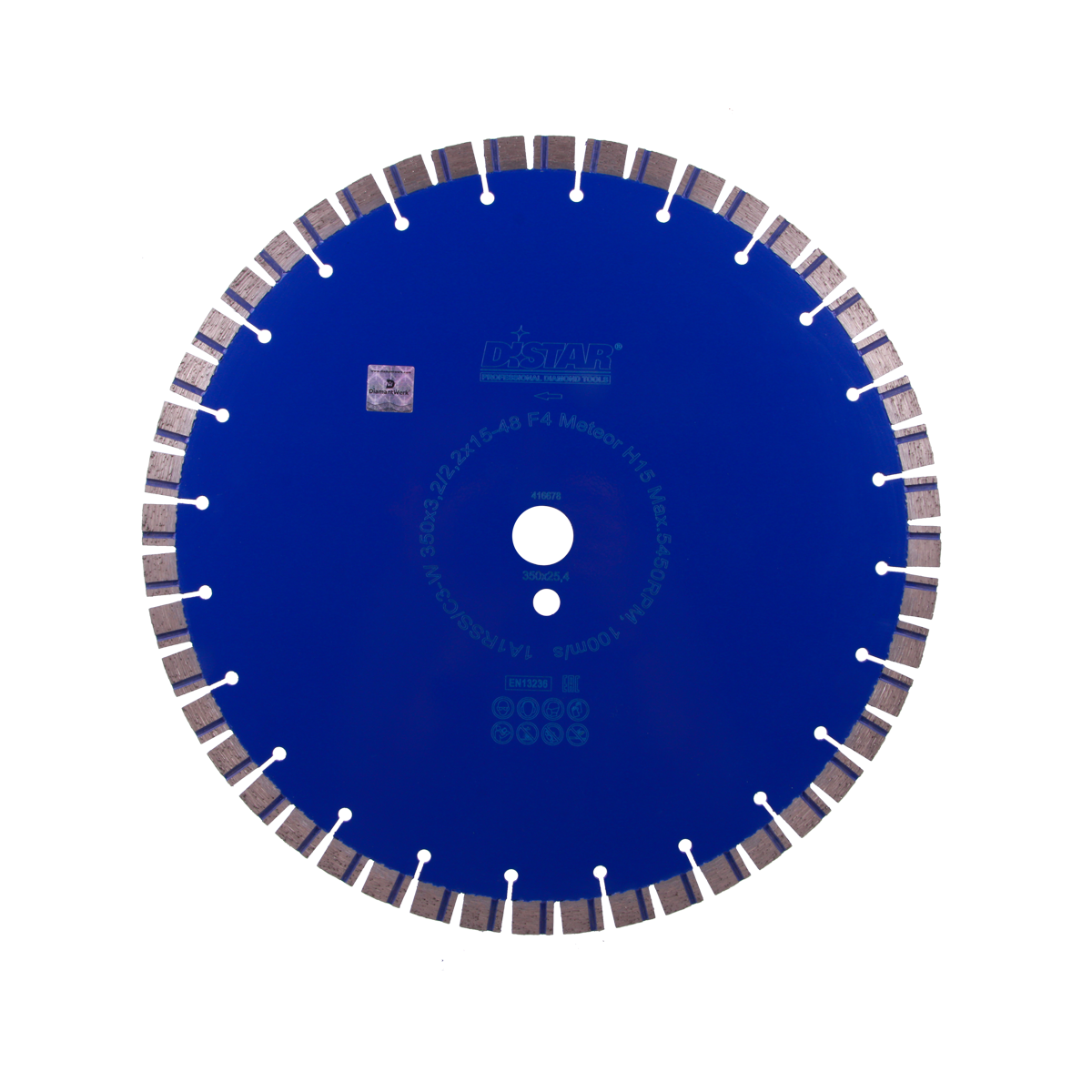 Круг алмазний відрізний 1A1RSS/C3-W 350x3,2/2,2x15x25,4-48 F4 Meteor H15