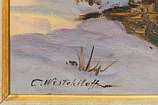 Картина Тане сніг худ. К. А. Вещилов 1-я третина ХХ століття, фото 3