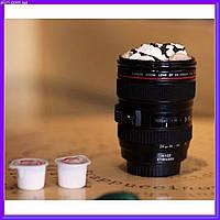 Классная термокружка объектив Canon с крышкой, фото 1