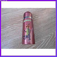 Детский термос для напитков и чая с клапаном Зверополис лиса 350мл
