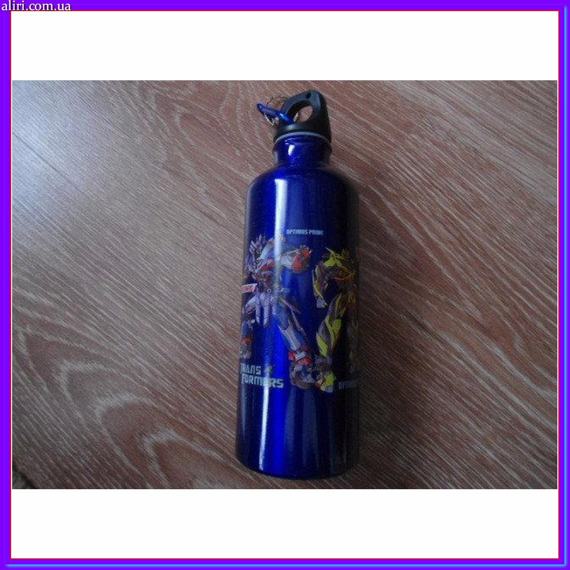 Бутылка бутылочка алюминиевая с карабином трансформеры 500мл