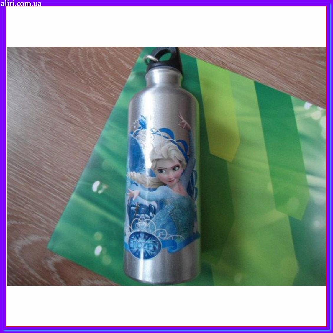 Бутылка бутылочка алюминиевая с карабином холодное сердце 500 мл