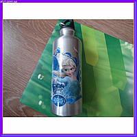 Бутылка бутылочка алюминиевая с карабином холодное сердце 500 мл, фото 1