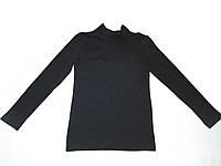 Топ футболка Фокс (длин.рукав+стойка) 30р. вискоза-90% лайкра 10% черный