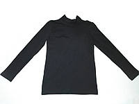 Топ футболка Фокс (длин.рукав+стойка) 36р. вискоза-90% лайкра 10% черный