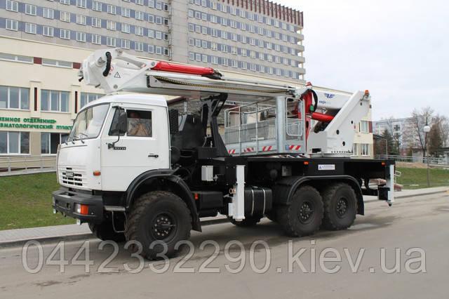 Аренда телескопической автовышки 34 метра в Киеве