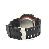 Спортивные мужские наручные часы годинник Casio G-Shock ga-100 Black-White Касио черно-белые реплика, фото 3