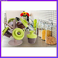 Набор емкостей для специй Spice Rack, органайзер для герметического хранения специй