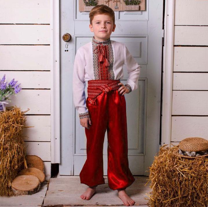 Красные шаровары на мальчика от 35см - до 55см 45см