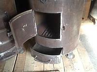 Печка для отопления больших помещений сталь 8мм