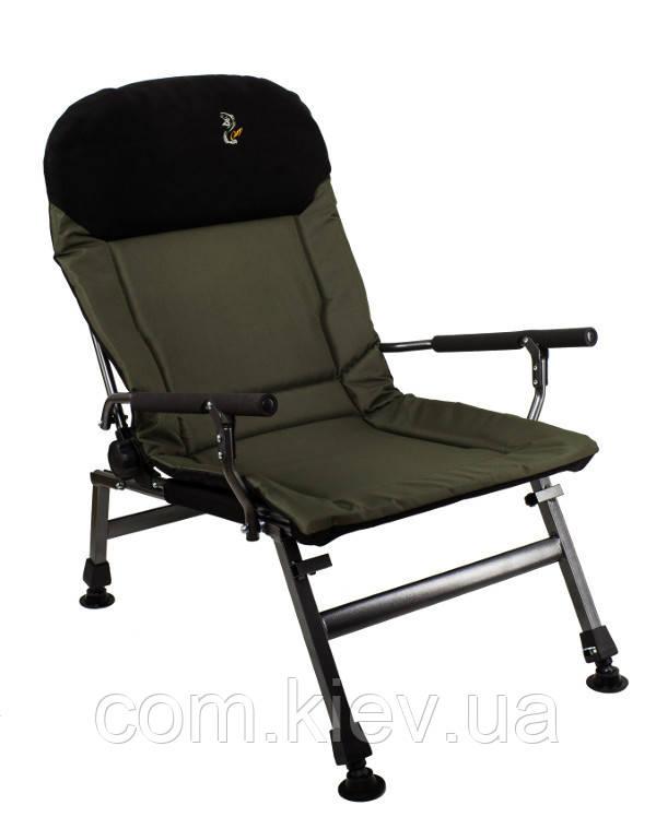 Кресло рыбацкое складное Carp Elektrostatyk FK5P.Есть самовывоз в Киеве.Бесплатная упаковка