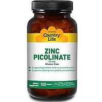 Цинк пиколинат (Zinc Picolinate), Country Life, 25 мг, 100 таблеток