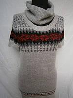 Теплые модные молодежные туники с коротким рукавом. Арт. 26704, фото 1
