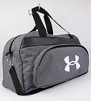 Качественная спортивная, дорожная сумка Under Armour 1326-1 серая уплотненная, фото 1