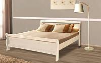 Кровать Виктория 1,6х2 м бежевая, массив ольхи+МДФ