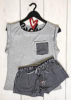 Пижама в полоску майка и шорты ТМ Exclusive  009.
