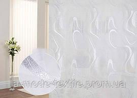 Тюль прозрачная белая Волны