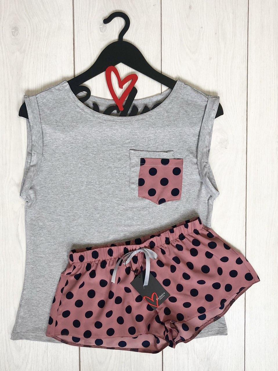 Комфортная пижама  ТМ Exclusive  009 майка-вискоза+ шорты-софт.