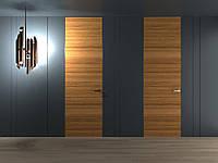Двери скрытого монтажа в шпоне тик в потолок