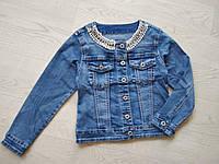 Джинсовый пиджак для девочки р. 128,134,140,146,152,158,164