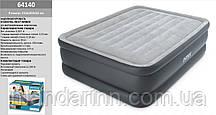 Двуспальная надувная кровать со встроенным электро насосом Intex 64140 (203х152x51 см.) + 220V