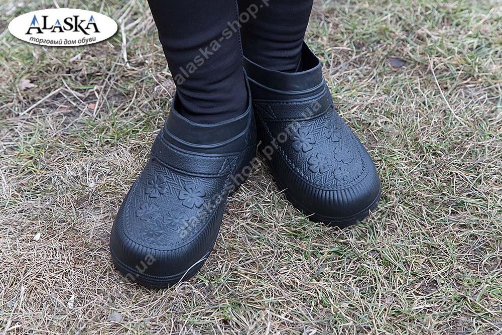 Женские галоши черные (Код: ГП-06)