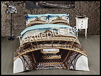 Комплект постельного белья First Choice 3D сатин Eifel Турция (kod 3082)
