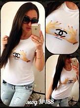 Женская футболка шанель вискоза