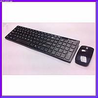 Русская беспроводная клавиатура с мышкой k06 с адаптером суперплоская wireless, фото 1
