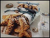 Комплект постельного белья 3D сатин Tweet Турция (kod 3091)