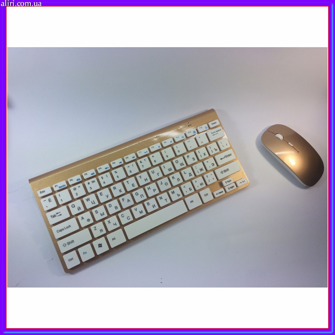 Беспроводная русская клавиатура mini и мышь keyboard 908
