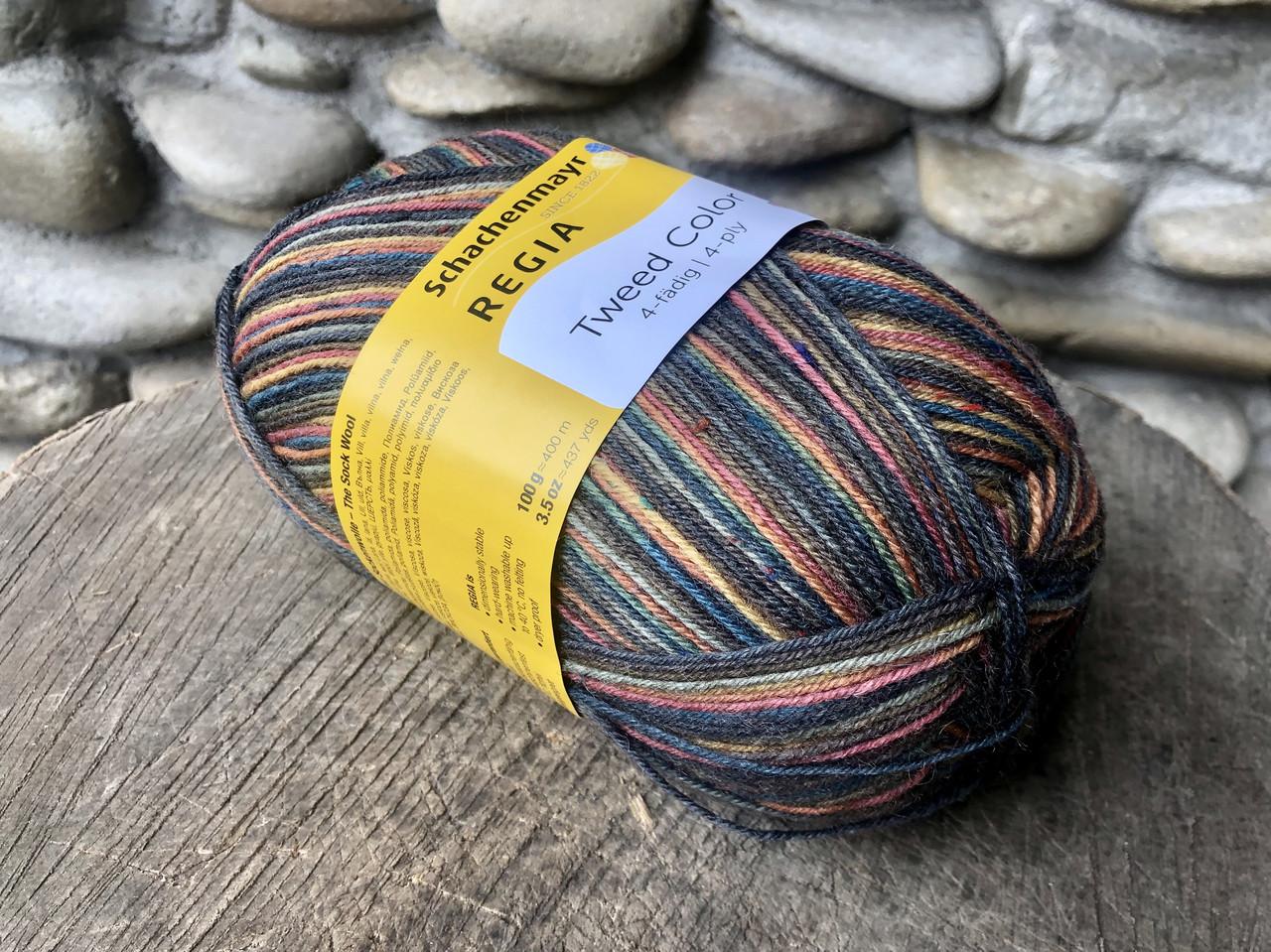 Шкарпеткова пряжа Regia Tweed Color