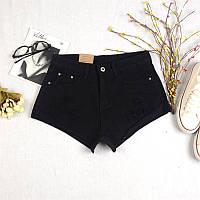 Женские шорты джинсовые черные короткие
