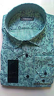 Мужская рубашка с длинным рукавом стрейч приталка DERGI, код 3003-1