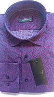 Мужская рубашка с длинным рукавом стрейч приталка DERGI, код 3008-2