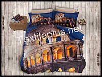 Комплект постельного белья 3D сатин Roma Турция (kod 3102)