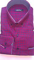 Мужская рубашка с длинным рукавом стрейч приталка DERGI, код 3013-1