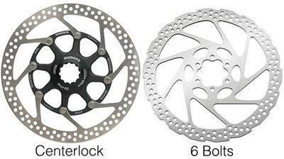Тормозные роторы, разница между Centerlock и 6 Bolt