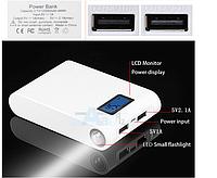 12000mAh USB ЖК резервная батарея Power Bank