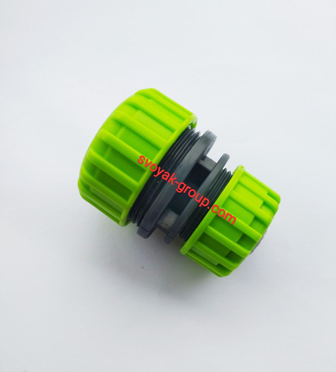 "Соединение для шланга 1/2"" - 3/4"" дюйма ""Presto PS"" - 5708 (orange, green)., фото 1"