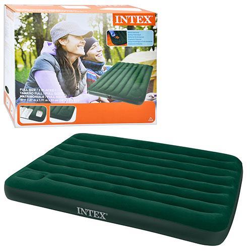 Надувной велюровый матрас Intex 66928