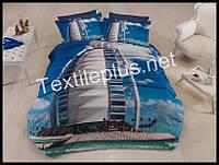 Комплект постельного белья 3D сатин Dubai Турция (kod 3108)
