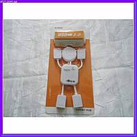 Концентратор USB HUB хаб на 4 порта человечек, фото 1