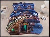 Комплект постельного белья 3D сатин Glory Турция (kod 3109)