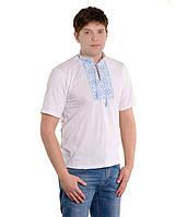 Мужская вышитая футболка гладью «Снежинка»