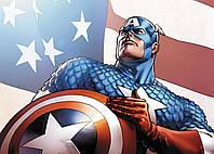 Картина GeekLand Captain America Капитан Америка щит и флаг 60х40см CA.09.045