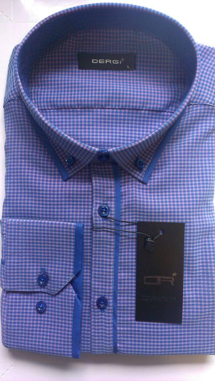 Чоловіча сорочка з довгим рукавом приталка DERGI, код 3101-1