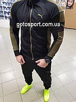 Мужской спортивный костюм Puma хаки, фото 1